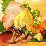 うまい野菜と魚がいっぱい 和んば - 刺身三種盛