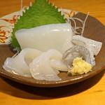 石臼挽き手打 蕎楽亭 - アオリイカの刺身