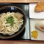 つばめ - 料理写真:ひやかけ(大)&竜田揚げ&オニギリ