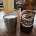 焼肉 味楽 - ビールはキンキンに冷えてます