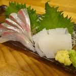 清野太郎 - カンパチと赤イカの2点盛り