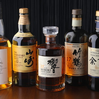 世界5大ウイスキーをご用意