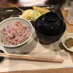 90183338 - 古代米と天ぷら