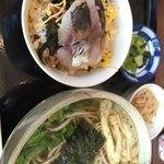 90188135 - 日替り定食(ちらし寿司と蕎麦)