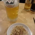 神戸餃子 楽 - ビールとお通し