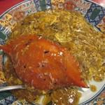 中華料理 龍鳳酒家 - 渡り蟹餡かけ炒飯