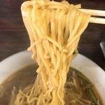 龍泉食堂 - みそラーメンの麺