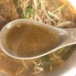 龍泉食堂 - みそラーメンのスープ