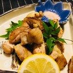 錦江湾 - 地鶏のコロコロ焼き。
