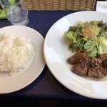 レザンドゥ - サイコロステーキ定食(日替りランチ)
