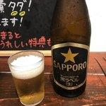 ホルモン焼肉ぶち - 瓶ビール
