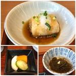 Hachigohan - ◆揚げ出し豆腐 ◆もずく ◆香の物