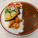 カレーハウス ピーノ - 料理写真:夏野菜カレー ライス大盛/ルー大盛(920円)