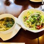 Karua GOHAN de Ham Ham - 料理写真:サラダ  スープ