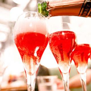 泡ガーデン開催中!六本木のテラスで直輸入スパークリングワイン