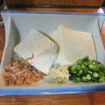 石臼挽きうどん しゅはり - 「豆腐食べ比べ」(ハーフサイズ)