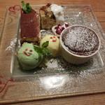 ビストロ魚金 - デザート三種盛り1180円