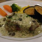 レストラン山水 - 真鯛のフリットミスト(素揚げ)バルサミココース