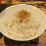 三田製麺所 - 追い飯60円