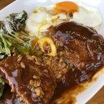 Dining Cafe & Bar Memoria - ロコモコ丼のアップ