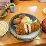 とんかつ藤よし - 米の娘ぶたロースかつ定食+ヒレ2枚