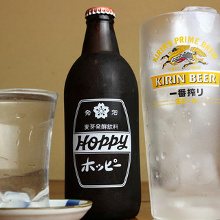 昔ながら500ml生ビール◎【3冷ホッピー】でく~ッと爽快!