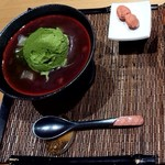 天野茶店 - 冷やっこぜんざい ジェラート添え♪