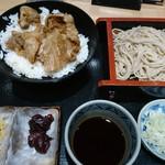 一ゆう - 豚焼肉丼とおそばのセット\850(18-08)