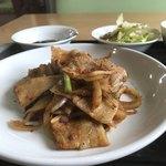 台湾家庭料理 園 - スタミナ焼肉定食。 美味し。