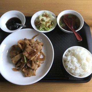台湾家庭料理 園 - スタミナ焼肉定食。 税込750円。 美味し。