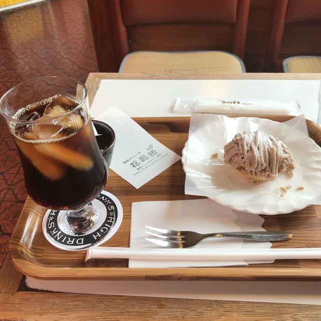 珈琲ファニー - ケーキセット。 税込730円。 美味し。