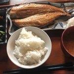 本町ひもの食堂 - 縞ほっけ開き定食 1,450円