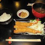 漁師めし みなと食堂 - プリプリ海老フライ定食