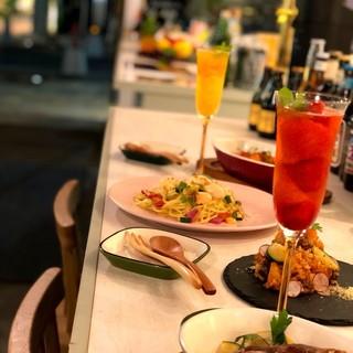 美容にいいお酒と奈良食材をふんだんに使用したパーティープラン