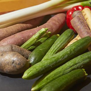 地産地消!千葉県産の野菜や魚を味わえます