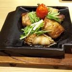 瓦そば すずめ - 野菜豚肉巻き