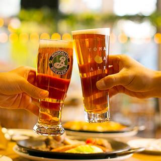種類豊富なクラフトビールで乾杯!!