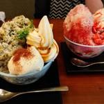 90238011 - ほうじ茶&パンナコッタかき氷