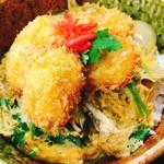 レストラン 海朱 - 帆立フライ丼 1000円