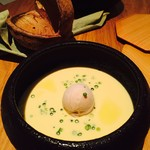 90242206 - スープ(冷製、とうもろこしとオマール海老)
