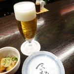 酒蔵レストラン宝 - 生ビール&先付