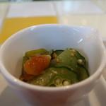 クレインポート鎌倉 - オクラとなめこの柚子胡椒和え