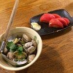 茅ヶ崎 海ぶね - さっぱりと‼︎冷やしトマトと活!あさりの酒蒸し