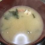 ゆきや荘 - 渡り蟹のお味噌汁\(^o^)/うまーい♪