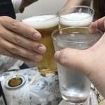 ゆきや荘 - ビールの鹿達とお水で乾杯\(^o^)/笑