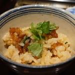 御料理 堀川 - 新生姜と揚げた鱧の炊き込みご飯