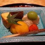 御料理 堀川 - フルーツとバームクーヘン羊羹