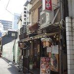 諸葛亭 - 工事中の歌舞伎座裏にあります