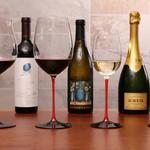 フレンチごはん 西麻布 GINA - 特別な日は特別なグラスでお楽しみください。