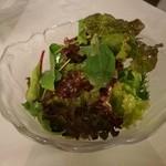 90256368 - 大きなガラスボウルに葉野菜たっぷり、メリハリのあるドレッシングが印象的なグリーンサラダ